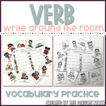 Verb Write Around the Room