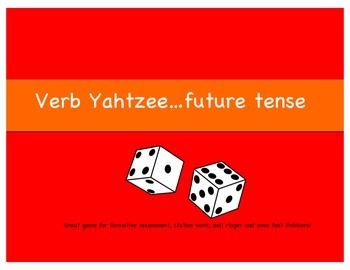 Verb Yahtzee future tense