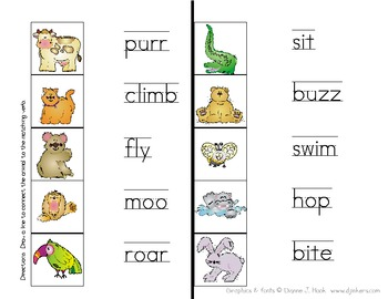 Verb Zoo Mini Packet