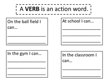 Verb, adverb, and adjective worksheets and reading interactive notebook