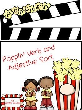 Verb and Adjective Sort--FREEBIE
