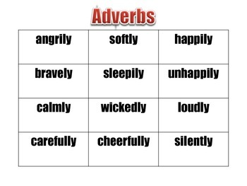 Verb and Adverb Charades