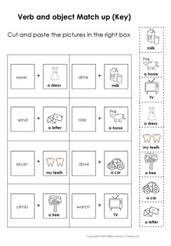 Verb and Object Matching Set for Special Education