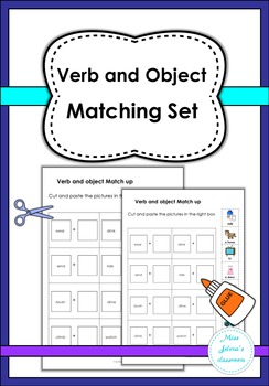 Verb and Object Matching Set