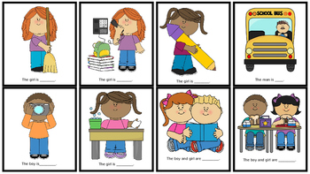Verb and Subjective Pronoun Flash Cards; Language Therapy