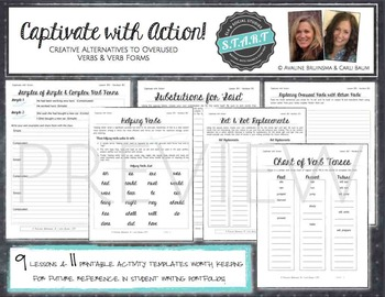 Verb and Verb Tense Lesson/Activity Bundle (Common Core Aligned)