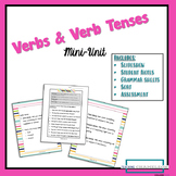 Verb and Verb Tenses Mini-Unit with slideshow, notes, work
