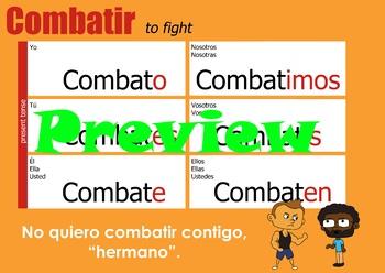 Verb chart - Combatir