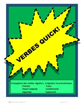 French verb conjugation charts and exercises for six main