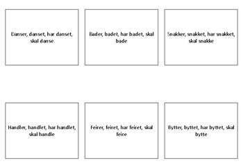 Verb-flashcards