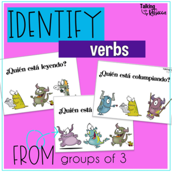 Monster Themed Action and Verb Tense Activities for Spanish Speech Therapy