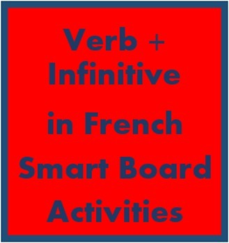 Verb + infinitive in French Smartboard activities