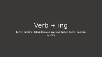 Verb + ing (Verbing) 9 Verbs (GIFs) with Interactive Quiz