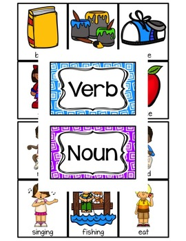 Verb or Noun Picture Cut and Sort