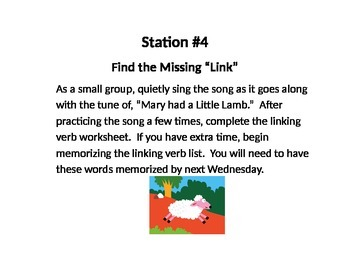 Verb stations for active verbs
