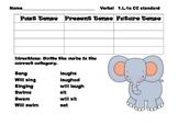 Verb tense sorting and writing in sentences