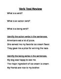 Verb test review sheet