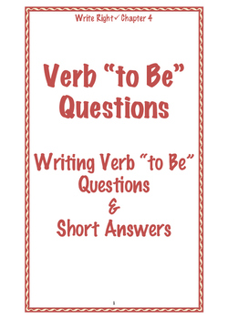 "EFL Write Right Chapter 4 - Verb ""to Be"" Questions"