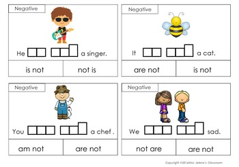Verb to be Clip it Cards