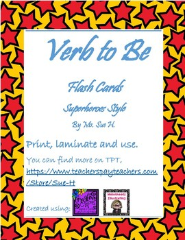 Verb to be Super Heroes