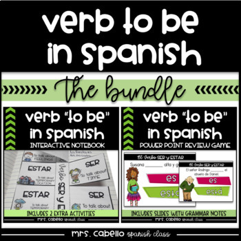 Verb to be in Spanish Bundle - Verbo Ser y Estar
