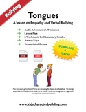 Verbal Abuse - Lesson Plan Worksheets and Audio Skits Grades 1-6