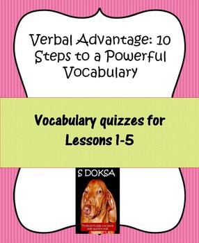 Verbal Advantage Vocabulary Quizzes Levels 1-5