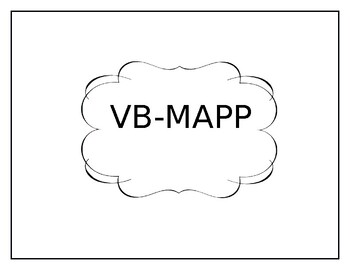 Verbal Behavior Program Book Operant Dividers