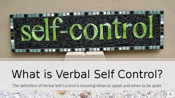 Verbal Control! Me And My Big Mouth