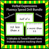 Editable Verbal Expressions Fluency 3 PowerPoints