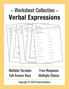 Verbal Expressions - Worksheet Collection