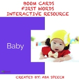 Verbal Imitation First Words- Boom Cards: Speech Therapy D