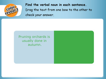 Interactive Verbal Nouns Activity for IWB
