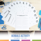 Verbal Phrases (Gerund, Participial, Infinitive) Task Cards and Writing Practice