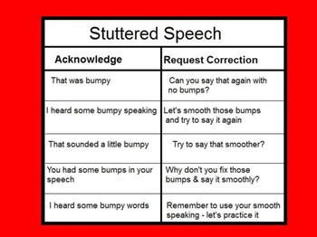 Verbal Prompts for Stuttering