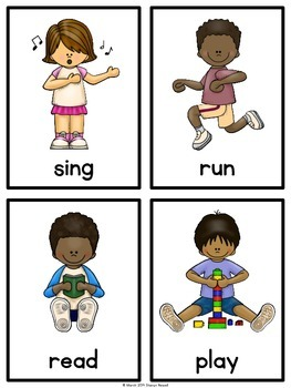 Action Verbs Practice and Worksheets