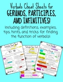 Verbals Cheat Sheet- Gerunds, Participles, and Infinitives