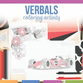 Verbals Coloring Sheet