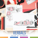 Color by Grammar Verbals Coloring Sheet Gerunds, Participl
