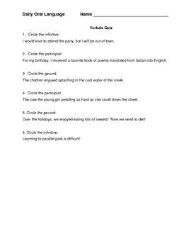 Verbals DOL/Quiz