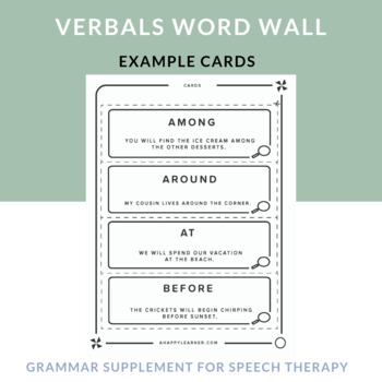 Verbals: Example Cards