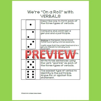 Verbals Game (Gerunds Participles and Infinitives)