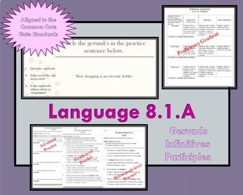 Verbals (Gerunds, Participles, & Infinitives) Part II of II PRINTABLE SUPPORTS!