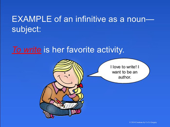 Verbals Infinitives and Infinitive Phrases Student Ready No Prep Unit L.8.1a