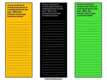 Verbals - Interactive Bookmarks (FREE)
