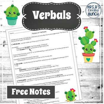 FREE Notes on Verbals
