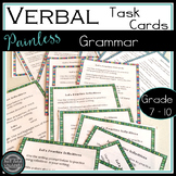 VERBALS:  Task cards for Middle School {Participles, Gerunds, Infinitives}