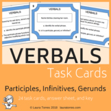 Verbals - Participles, Gerunds, Infinitives Task Cards