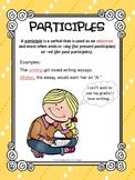 Verbals Participles and Participial Phrases Classroom Poster L.8.1a