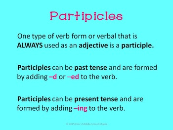 Verbals PowerPoint Presentation